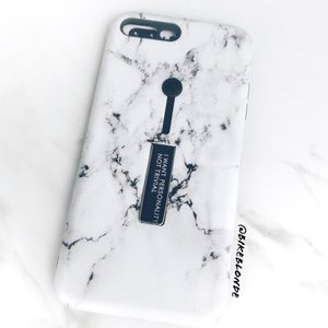 Accessories - NEW iPhone 7+/8+/X/XS/Max Marble Grip Stand Case